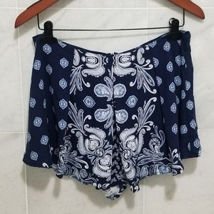 Miami Blue Paisley Shorts